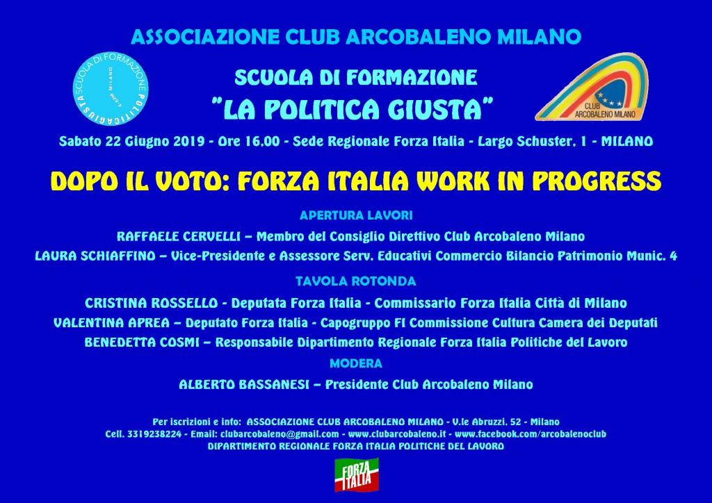 Scuola Poltica Giusta - Lezione Straordinaria - 22-06-2019 - Locandina