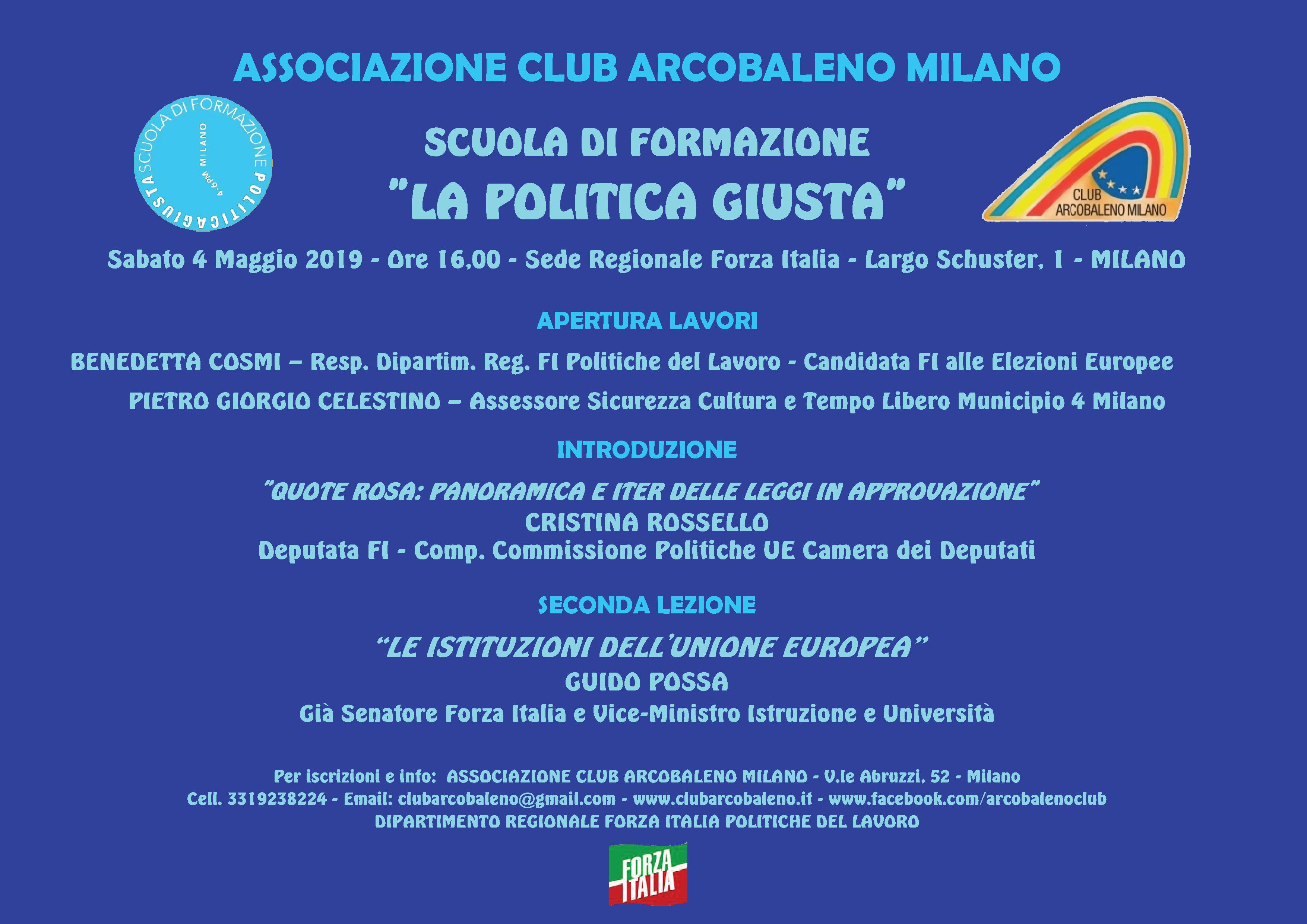 Scuola Poltica Giusta - Seconda Lezione - 04-05-2019 - Locandina Dettagliata - Definitiva
