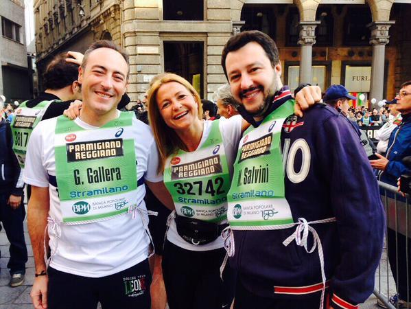 Gallera Salvini alla Stramilano - 29-03-2015