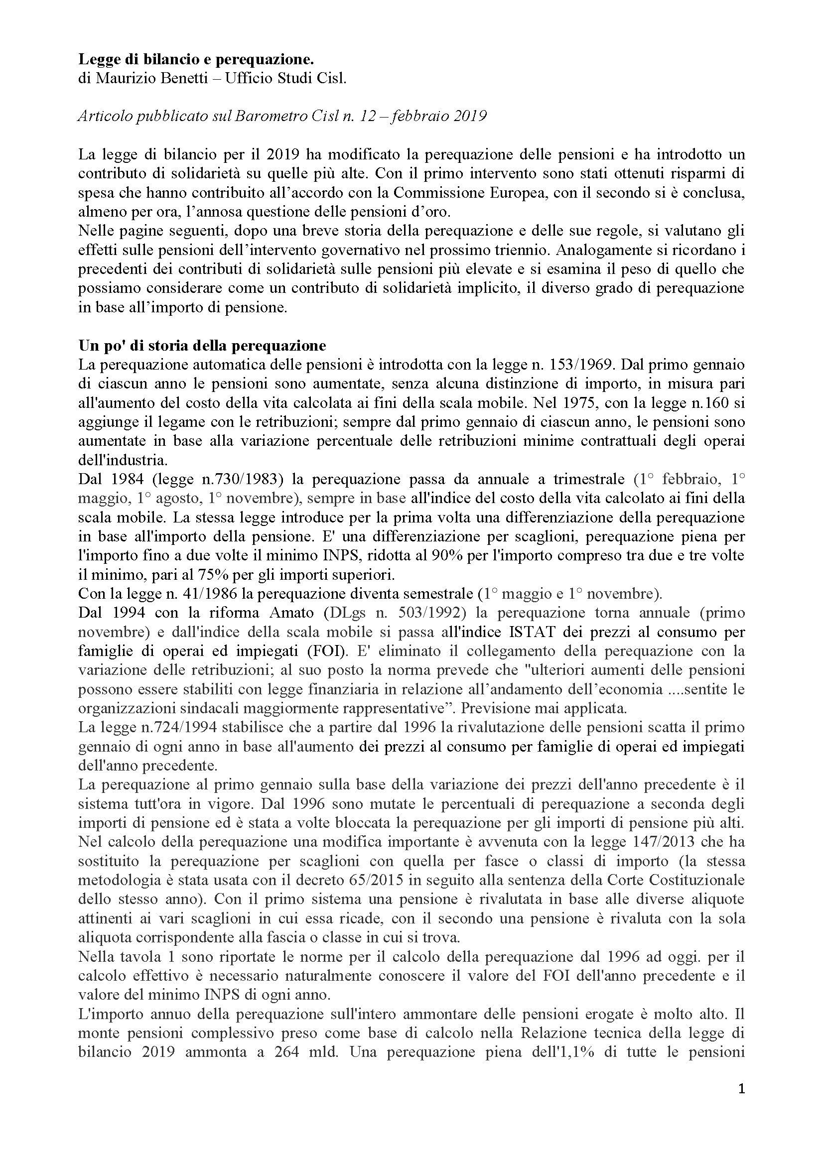 Perequazione pensioni - storia_Pagina_1